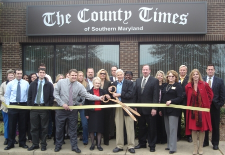 The County Times staff on opening day in 2006 in Hollywood, Md.
